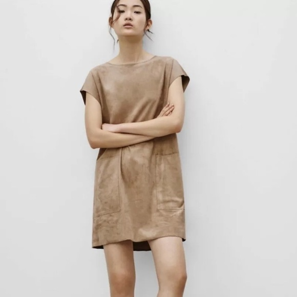 Aritzia Wilfred Free Brown Nori Shift Dress S